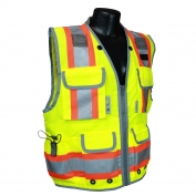 Radians SV55-2ZGD Heavy Duty Two-Tone Engineer Safety Vest - Yellow/Lime