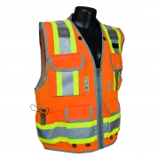 Radians SV55-2ZOD Heavy Duty Two-Tone Engineer Safety Vest - Orange