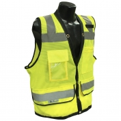 Radians SV59-2ZGD Type R Class 2 Heavy Duty Surveyor Safety Vest - Yellow/Lime