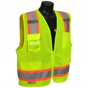 Radians SV6-2ZGM Type R Class 2 Two-Tone Surveyor Safety Vest - Yellow/Lime