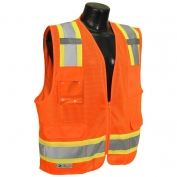 Radians SV6-2ZOM Type R Class 2 Two-Tone Surveyor Safety Vest - Orange