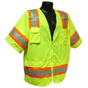 Radians SV63G Two-Tone Type R Class 3 Surveyor Safety Vest - Yellow/Lime