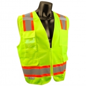 Radians SV6G Type R Class 2 Two-Tone Surveyor Safety Vest - Yellow/Lime