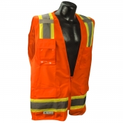 Radians SV6O Class 2 Two-Tone Surveyor Safety Vest - Orange