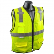 Radians SV7E-2ZGM Economy Type R Class 2 Surveyor Safety Vest - Yellow/Lime