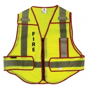 M&P by Smith & Wesson SVSW01 Basic Mesh Public Safety Vest - Fire - Red Trim