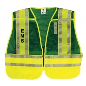 M&P by Smith & Wesson SVSW02 Split Tape Public Safety Vest - EMS - Green