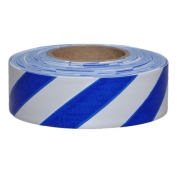 Presco SWB Striped Roll Flagging Tape - White/Blue