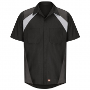 Red Kap SY28 Short Sleeve Tri Color Shop Shirt