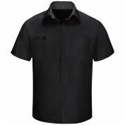 Red Kap SY42 Men's OilBlok Performance Plus Shop Shirt - Short Sleeve