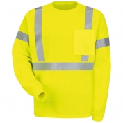 Red Kap SYK2 Type R Class 2 Hi-Viz Long Sleeve Safety T-Shirt