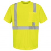 Red Kap SYK6 Type R Class 2 Hi-Viz Short Sleeve Safety T-Shirt