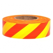 Presco SYR Striped Roll Flagging Tape - Yellow/Red