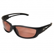 Edge TSK-XL215 Kazbek XL Safety Glasses - Black Rubberized XL Frame - Copper Polarized Lens