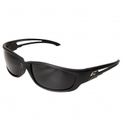 Edge TSK-XL216 Kazbek XL Safety Glasses - Black Rubberized XL Frame - Smoke Polarized Lens