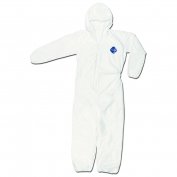 River City TY127S DuPont Tyvek Coverall w/ Attached Hood - Zipper Front - Elastic Sleeves & Ankles