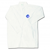 River City TY210S DuPont Tyvek Lab Coat w/ Collar - Front Snap Closure - Open Sleeves