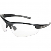 U.S. Safety DM1210P Dominator DM2 Safety Glasses - Black/Gray Frame - Clear Lens