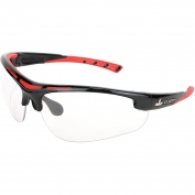 U.S. Safety DM1220PF Dominator DM2 Safety Glasses - Black/Red Frame - Clear MAX6 Anti-Fog Lens