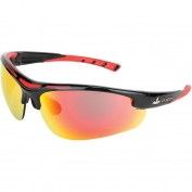 U.S. Safety DM122R Dominator DM2 Safety Glasses - Black/Red Frame - Red Mirror Lens