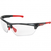 U.S. Safety DM1310P Dominator DM3 Safety Glasses - Gray/Red Frame - Clear Lens