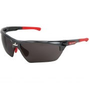 U.S. Safety DM1312P Dominator DM3 Safety Glasses - Gray/Red Frame - Gray Lens