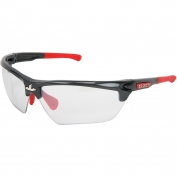 U.S. Safety DM1319 Dominator DM3 Safety Glasses - Gray/Red Frame - Indoor/Outdoor Lens