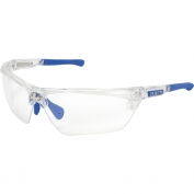 U.S. Safety DM1320PF Dominator DM3 Safety Glasses - Blue/Clear Frame - Clear MAX6 Anti-Fog Lens