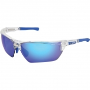 U.S. Safety DM1328BZ Dominator DM3 Safety Glasses - Blue/Clear Frame - Polarized Blue Mirror Lens