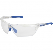 U.S. Safety DM1329 Dominator DM3 Safety Glasses - Blue/Clear Frame - Indoor/Outdoor Lens