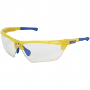 U.S. Safety DM1340PF Dominator DM3 Safety Glasses - Blue/Yellow Frame - Clear MAX6 Anti-Fog Lens