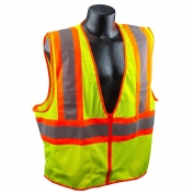 Full Source US2LM17 Type R Class 2 Mesh Two Tone Safety Vest - Yellow/Lime