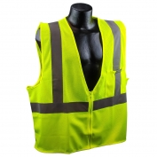 Full Source US2LM19 Type R Class 2 Mesh Safety Vest - Yellow/Lime