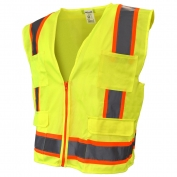Full Source US2LN16 Class 2 Solid Surveyor Safety Vest - Yellow/Lime