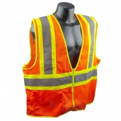 Full Source US2OM17 Type R Class 2 Mesh Two Tone Safety Vest - Orange