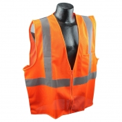 Full Source US2OM19 Class 2 Mesh Safety Vest - Orange
