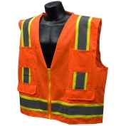 Full Source US2ON16 Type R Class 2 Solid Surveyor Safety Vest - Orange