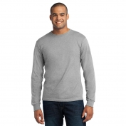 Port & Company USA100LS Long Sleeve All-American Tee - Athletic Heather
