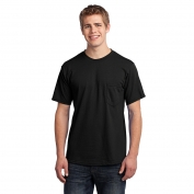 Port & Company USA100P All-American Tee with Pocket - Black