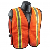 Full Source USEOM2R Economy Non-ANSI Mesh Safety Vest - Orange