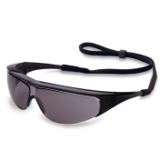 Uvex Millennia Safety Glasses - Black Frame - Standard Gray Lens