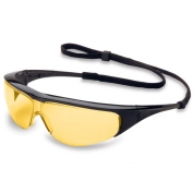 Uvex Millennia Safety Glasses - Black Frame - Amber Lens