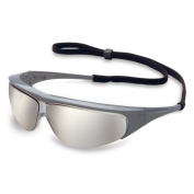 Uvex Millennia Safety Glasses - Silver Frame - Indoor/Outdoor Mirror Lens