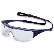 Uvex Millennia Safety Glasses - Blue Frame - Clear Lens