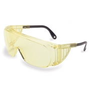 Uvex Ultra-Spec 2000 Safety Glasses - Amber Frame with Spatula Temples - Amber Anti-Fog Lens