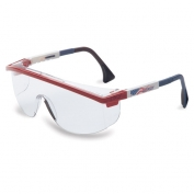 Uvex Astrospec 3000 Safety Glasses - Patriot Duoflex Temples - Clear Lens