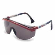 Uvex Astrospec 3000 Safety Glasses - Patriot Duoflex Temples - Gray Anti-Fog Lens