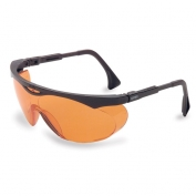Uvex Skyper Safety Glasses - Black Frame - Orange Anti-Fog Lens