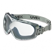 Uvex Stealth OTG Goggles - Navy Frame - Clear Dura-Streme Lens - Logoed Fabric Band