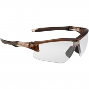 Uvex S4170XP Acadia Safety Glasses - Brown Frame - Clear Uvextreme Plus Anti-Fog Lens